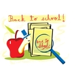 Back to school with apple vector | Price: 1 Credit (USD $1)