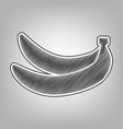 banana simple sign pencil sketch vector image vector image