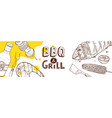 bbq grill poster vector image vector image