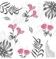 beauty exotic flowers with branches background vector image vector image