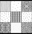 black and white abstract and simple doodle vector image