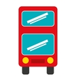 bus vehicle transport isolated icon vector image vector image