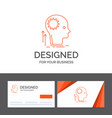 business logo template for mind creative thinking vector image