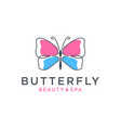 butterfly logo design vector image vector image