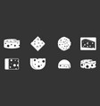 cheese icon set grey vector image