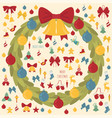 christmas wreath decoration elements set for vector image vector image