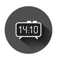 clock sign icon in flat style time management on vector image vector image