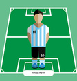 Computer game Argentina Football club player vector image vector image