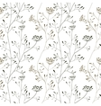 Cow parsnip seamless pattern on white backdrop vector image