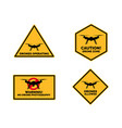 drone signs caution vector image
