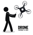 drone technology service icon vector image vector image