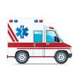 emergency car icon isolated on white background vector image