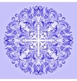 ethnic pattern of blue ornament vector image vector image