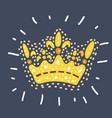filigree high detailed imperial crown vector image vector image