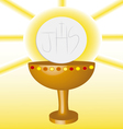 first Communion Eucharist 2 vector image vector image