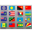 flags of all countries of the world vector image vector image