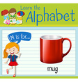 Flashcard letter M is for mug vector image vector image