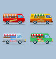 food truck collection vector image