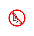 forbidden to iron icon on white background can be vector image