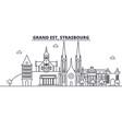 france strasbourg architecture line skyline vector image vector image