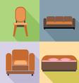 Furniture set in outlines Digital image vector image vector image