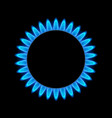 gas flame blue energy gas stove burner cooking vector image