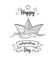 greeting card independence day art vector image vector image