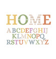 handmade plywood letters vector image