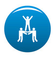 happy teamwork icon blue vector image vector image