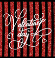 happy valentines day greeting card with lettering vector image vector image