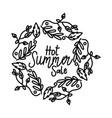 hot summer sale script text design template vector image