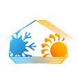 house ventilation and heating symbol vector image vector image