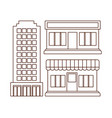 icon set of stores design vector image