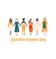 international womens day banner placard or vector image vector image