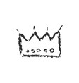 isolated hand drawn crown with crayola vector image vector image