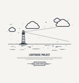 Lighthouse concept vector image vector image