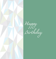 Low poly birthday card in green vector image vector image