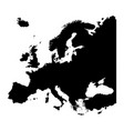 map of europe silhouette design isolate on white vector image vector image