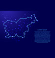map slovenia from the contours network blue vector image vector image