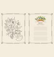 menu set vegetables vector image