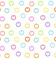 Motley seamless girly pattern with pastel colored vector image
