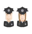 objects icons police avatars set vector image vector image