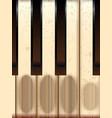 old worn piano keys vector image vector image