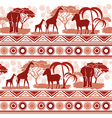 Pattern in African style vector image vector image