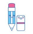 pencil kawaii cartoon vector image vector image