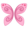 pink butterfly decoration jewelry or rare insect vector image