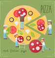 pizza retro poster vector image