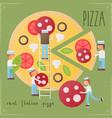 pizza retro poster vector image vector image