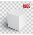 Realistic Cube Template EPS10 Grey vector image vector image