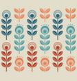 scandinavian folk style flowers seamless pattern vector image vector image